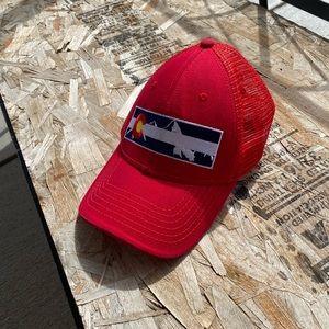 Red Colorado Webbed hat